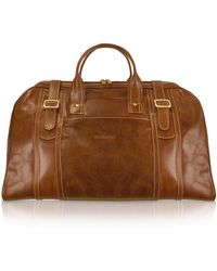 Chiarugi - Handmade Brown Genuine Italian Leather Duffle Travel Bag - Lyst