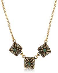 Alcozer & J - Pyramid Necklace W/semi Precious Stones - Lyst