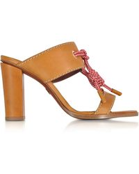 DSquared² - Camel Leather High Heel Sandals - Lyst