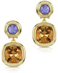 FORZIERI - Purple And Orange Crystal Earrings - Lyst