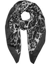FORZIERI - Animal Print Twill Silk Square Scarf - Lyst