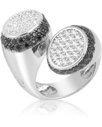 Azhar - Black And White Contrarie' Ring - Lyst
