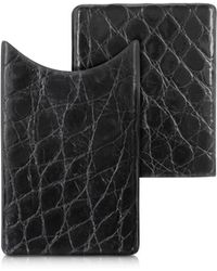 Peroni - Crocodile-embossed Leather Card Case - Lyst