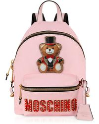 Moschino - Teddy Bear Backpack In Leather - Lyst