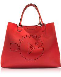 Emporio Armani - Cyber Waterworld Leather Tote Bag - Lyst