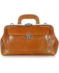Chiarugi - Small Cognac Leather Doctor Bag - Lyst