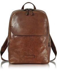 The Bridge - Marrone Leather Men's Backpack - Lyst