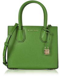 Michael Kors - Mercer Leather Crossbody Bag - Lyst