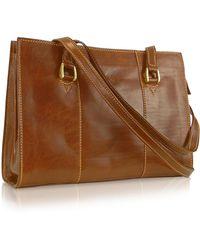 bc4f2d6cf8fb2 Chiarugi - Handmade Brown Genuine Italian Leather Zip Satchel Bag - Lyst