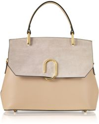 Le Parmentier - Thais Suede And Leather Satchel Bag - Lyst