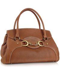 Buti Biscuit Italian Leather Satchel Flap Handbag Lyst