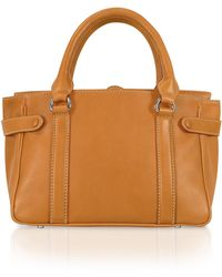 Buti - Side Snaps Calf Leather Satchel Bag - Lyst