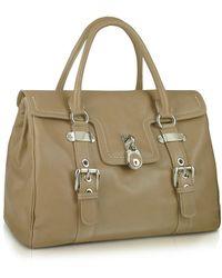 Buti - Medium Grained Leather Flap Satchel Bag - Lyst