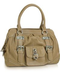 Buti - Grained Leather Zippered Satchel Bag - Lyst