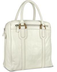 Buti - Zippered Genuine Italian Leather Travel Tote Bag - Lyst