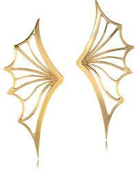 Bernard Delettrez - Bronze Bat Wing Earrings - Lyst