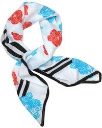 KENZO - Tiger Printed Cotton And Silk Bandana - Lyst