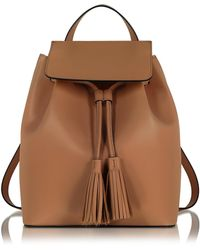 Le Parmentier - Caramel Leather Backpack - Lyst