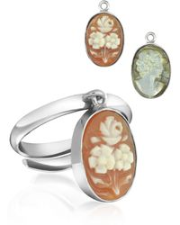 Mia & Beverly - Cameo Charm Ring - Lyst