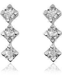 FORZIERI - 0.24 Ct Diamond Drop 18k Gold Earrings - Lyst