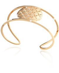 Rebecca - Melrose Yellow Gold Over Bronze Cuff Bracelet - Lyst
