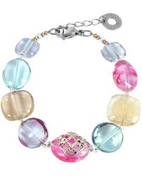 Antica Murrina - Florinda Top T Transparent Murano Glass Beads Bracelet - Lyst