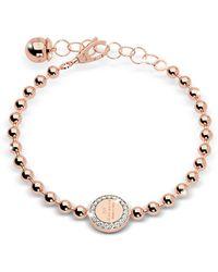 Rebecca - Boulevard Stone Rose Gold Over Bronze Bracelet W/stones - Lyst