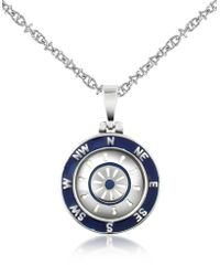 FORZIERI - Stainless Steel Cardinal Points & Rudder Pendant Necklace - Lyst