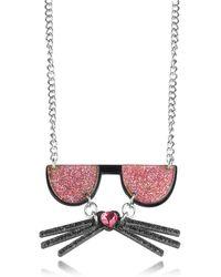 Karl Lagerfeld - K/kocktail Necklace W/glitter Effect - Lyst