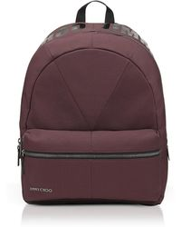 Jimmy Choo - Reed Burgundy Canvas And Woven Nylon Backpack - Lyst