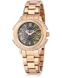 Just Cavalli - Just Decor Rose Gold Tone Stainless Steel Women's Watch - Lyst