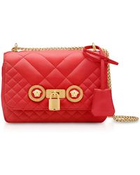 Versace - Small Quilted Leather Icon Small Shoulder Bag - Lyst