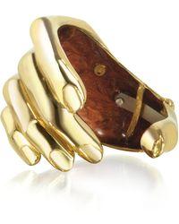 Bernard Delettrez - Hand Bronze Cuff Bracelet - Lyst