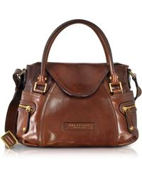 The Bridge - Icons Gaucho Small Leather Satchel W/shoulder Strap - Lyst