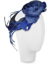 Nana' | Alba - Night Blue Flower Feather Hat Disc | Lyst