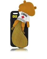 DSquared² - Housse de Protection pour iPhone 6 en Silicone Noir avec Castor Canadien - Lyst