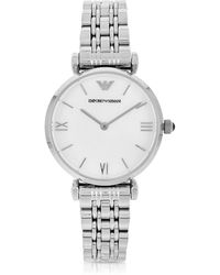Emporio Armani - Stainless Steel Women's Watch - Lyst