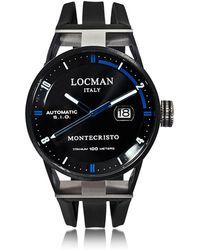 LOCMAN - Montecristo Black Pvd Stainless Steel & Titanium Automatic Men's Watch - Lyst