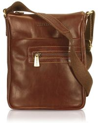 Chiarugi - Zip-Up Leather Cross-Body Bag - Lyst