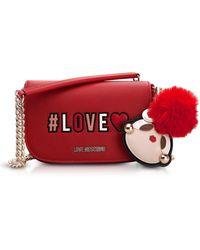 Love Moschino - Love Chain Crossbody Bag Rosso - Lyst