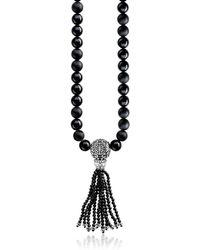 Thomas Sabo - Collana con Perle in Obsidiana e Argento - Lyst