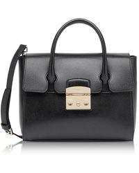 Furla - Onyx Grained Leather Metropolis Small Satchel - Lyst