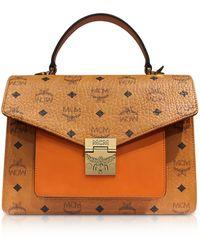MCM - Cognac Patricia Visetos Medium Satchel Bag - Lyst