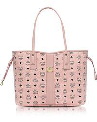 MCM - Shopper Project Visetos Soft Pink Medium Reversible Tote Bag - Lyst