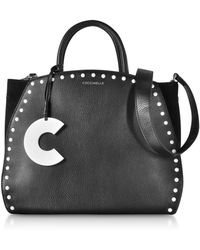 Coccinelle - Concrete Studs Top Handle Leather Tote Bag - Lyst