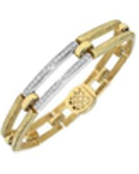 Torrini - Beatrice - Gold And Diamond Rectangular Link Bracelet - Lyst