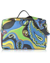 Emilio Pucci - Pervinca Optical Print Oversized Top-handle Bag - Lyst