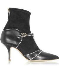 Malone Souliers - Color Block Nappa Leather And Stretch Suede Sadie Bootie - Lyst