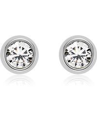 Fossil - Crystal Studs Earrings - Lyst