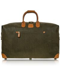 Bric's | Life Olive Green Micro-suede 22'' Duffle Bag | Lyst